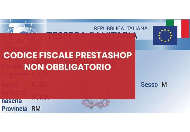 come rendere opzionale il codice fiscale obbligatorio in prestashop
